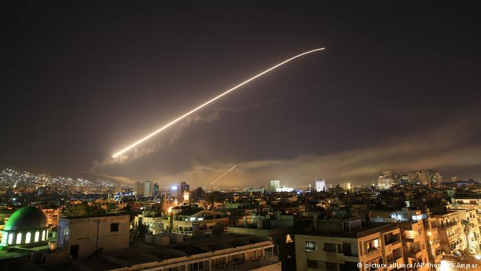 Syrian Airstrike 2018 (picture alliance/AP Photo/H. Ammar)