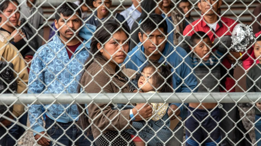 Migrants in Cages, mother and child