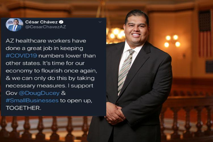 Chavez with tweet horiz