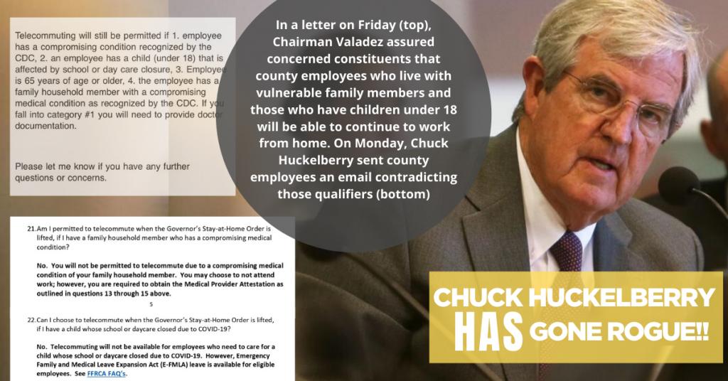 Chuck Huckleberry has gone rogue_